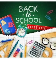 Back To School Design Concept vector image