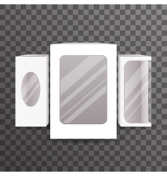 Paper Package Boxes Mock Up Set Realistic Icon vector image