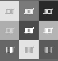 radiator sign grayscale version of popart vector image