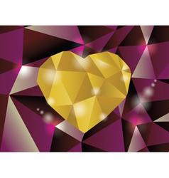 Abstract diamond heart vector