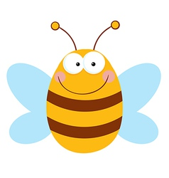Bee Cartoon Character vector image