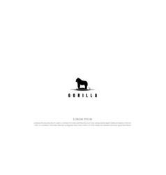 black big strong animal gorilla logo design vector image