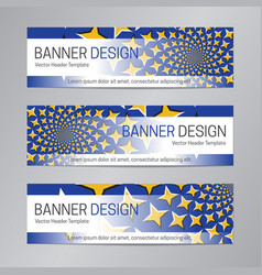 blue yellow banner design web header template vector image