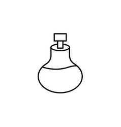 bottle massage oil of aromatherapy outline icon vector image