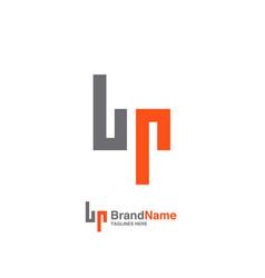 bp letter logo design vector image