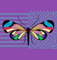 Butterfly greta oto stained glass transparent vector