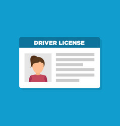 Car driver license woman icon vector