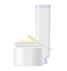 cartoon skin care cream set vector image