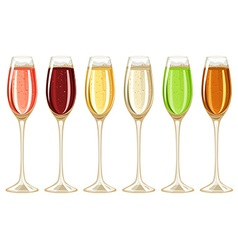Champagne in tall glass vector image