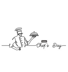 Chefs day holiday minimalist web banner vector