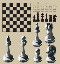 Chess elements vector