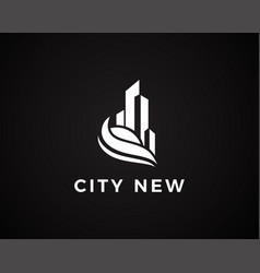 City logo line simple logo building logo vector