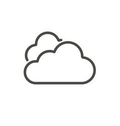 cloud icon line sky symbol vector image