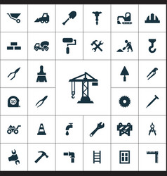 construction icons universal set vector image