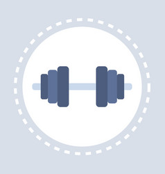 Dumbbell icon strong hand arm bicep active healthy vector