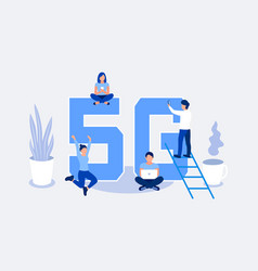 fifth generation wireless 5g concept vector image