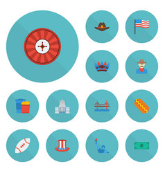 Flat icons football sausage western and other vector