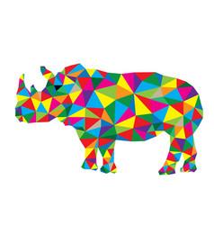 Geometric rhinoceros vector