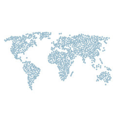 Global map pattern of cooperation items vector