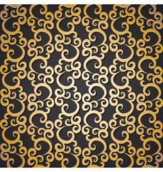 Golden pattern with swirls vector
