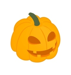 Halloween pumpkin isometric 3d icon vector image