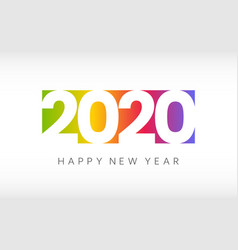 happy new year 2020 colorful greeting card on vector image