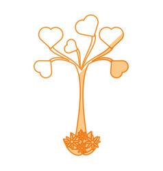 Heart tree love vector