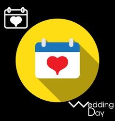Icon of Wedding Day in a calendar vector image