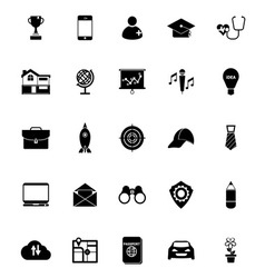 Job description icons on white background vector
