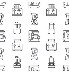kitchen utensil small appliances seamless pattern vector image
