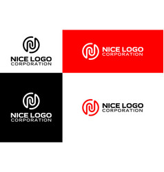 Logo with the letter n vector