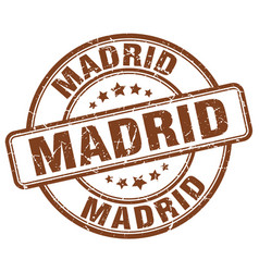 Madrid stamp vector