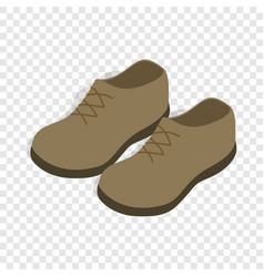 male shoes isometric icon vector image