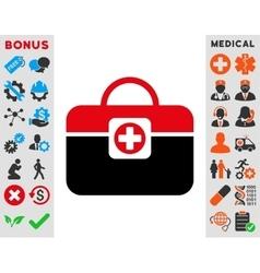 Medic case icon vector