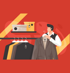 Mens clothing store vector