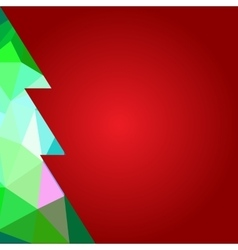 Merry christmas Happy new year triangle pine tree vector image