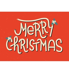 Merry Christmas lettering Typographic greeting car vector