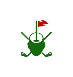 Mind golf logo icon design vector