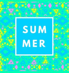 neon summer background vector image
