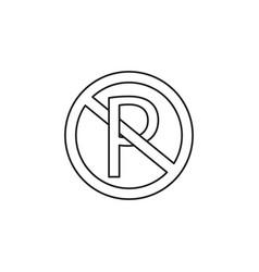 no parking round icon vector image