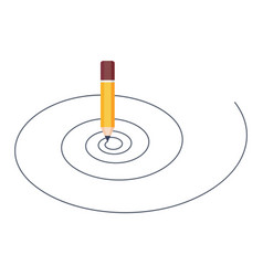 pencil drawing spiral isolated on white background vector image