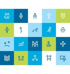 People and family icons Flat vector image