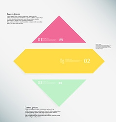 Rhombus infographic template consists of three vector