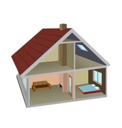 Rural home vector