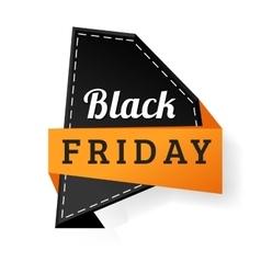 Sale badge sticker percent discount black friday vector image