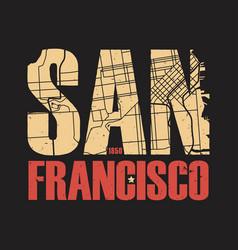 San francisco california tee print vector