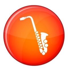 Saxophone icon flat style vector