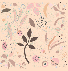 seamless delicate floral pattern on dotted vector image