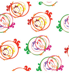 seamless tileable pattern with abstract circles vector image