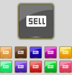 Sell Contributor earnings icon sign Set with vector